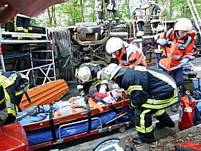Übung Busunfall, Foto: Landkreis Marburg-Biedenkopf
