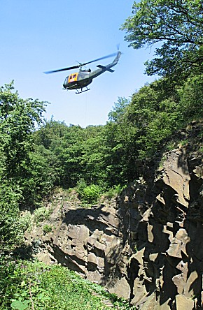 SAR Hubschraubner über der Einsatzstelle (Foto: Jens Herkströter)