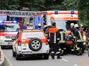 Aufwändige Rettungsarbeiten am Zellerbach (Foto: BRK BGL)