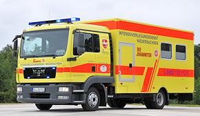 Neuer ITW der Oldenburger Johanniter: MAN TGL 8.220 mit Aufbau von Ambulanz Mobile. Foto: Michael Rüffer