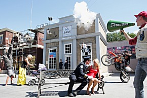 Stunt Show im Moviepark (Foto: Moviepark Germany)