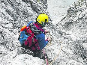 Schwieriges Felsgelände am Zundernkopf (Foto: Bergwacht Bayern)