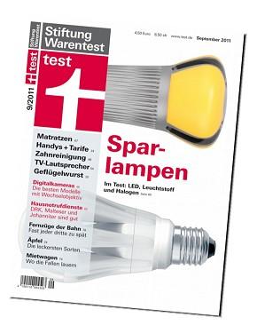 Test 9/2011  (Foto: Stiftung Warentest)