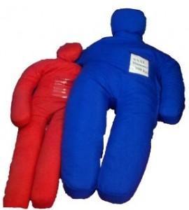 Erwachsenendummy rot, XXXL-Dummy blau