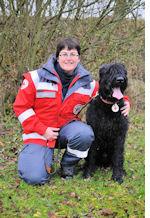 Flächensuchhund Nico vom Klingsgarten von der Rettungshundestaffel des BRK Erlangen-Höchstadt fand die vermisste Frau. Foto: BRK Erlangen-Höchstadt