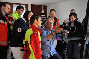 Fotograf Alexander Licht hat  jetzt Ehrenamtliche der vier Hilfsorganisationen für eine Ausstellung portraitiert. Foto: Malteser