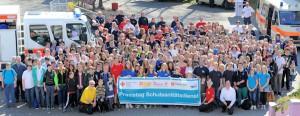290 Schüler nahmen am Praxistag der Schulsanitätsdienste in Bayern teil. Foto: ASB Bayern