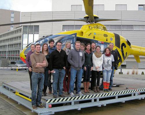 Die Startergruppe 2014 Rettungsdienstpraktikum vor der RLST. Foto: ZRF-Saar