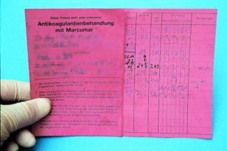 Marcumar-Ausweis. Foto: Herbert Mannel