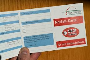 Notfallkarte Guetersloh
