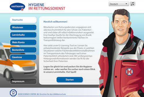 """Bode Science Center hat ein E-Learning-Tool namens """"Hygiene im Rettungsdienst"""" entwickelt."""