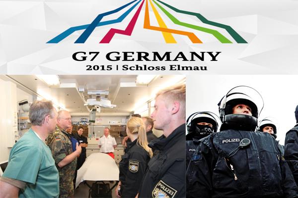 Symbolbild G7-Gipfel. Fotos: Bundeswehr, Bundespolizei, CC G7