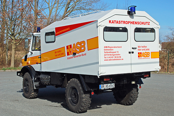 Der Kofferaufbau stammt von Mercedes und der Waggonfabrik Uerdingen. Foto: Thomas Waskow/ASB RV Ostholstein