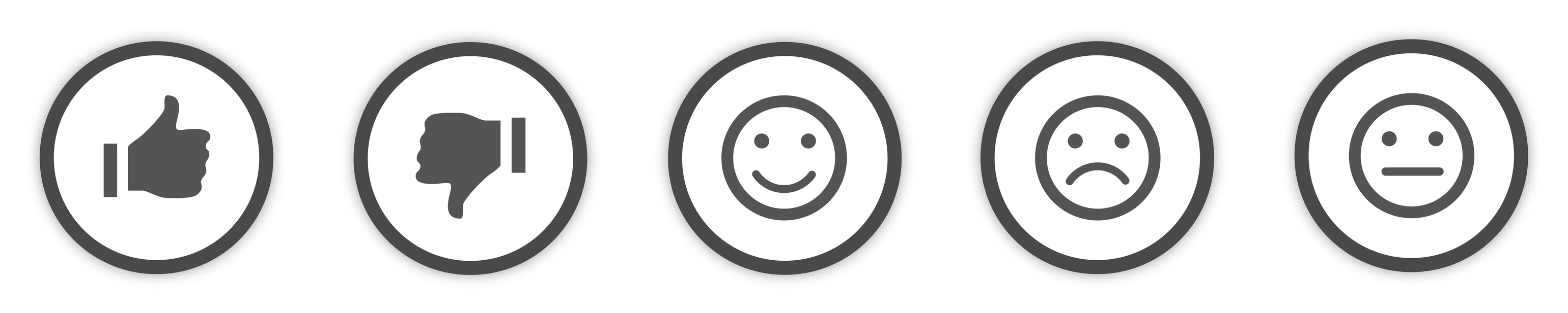 Icons Buttons grey Feedback