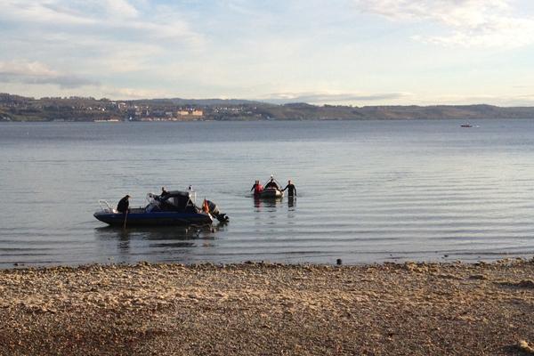 Einsatz für verschiedene Hilfsorganisationen auf dem Bodensee. Foto: DLRG Konstanz