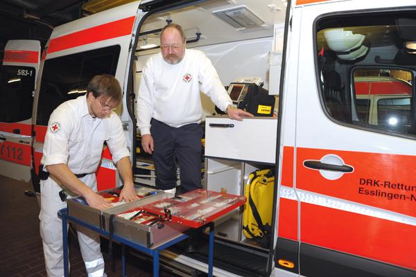 Reportage Nachtarbeiter f¸r teckbote rettungsdienst Kirchheim