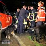 """Auch die Einheit """"Rettungshunde-Ortungstechnik"""" wurde alarmiert."""