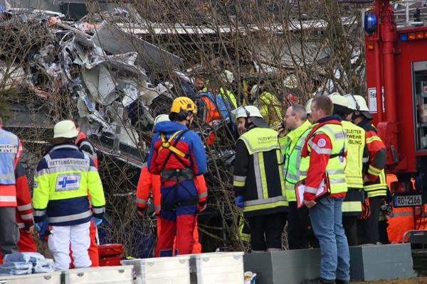 Schweres Zugunglück in Bayern. Foto: fib/Eß