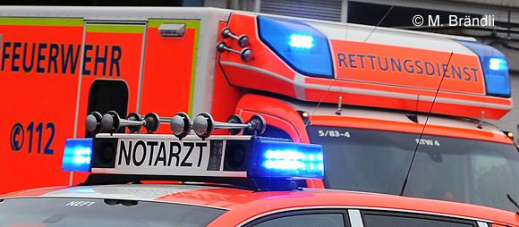RTW-Unfälle in Lübeck und Hamburg: ein Toter, ein Schwerverletzter. Symbolfoto: Markus Brändli