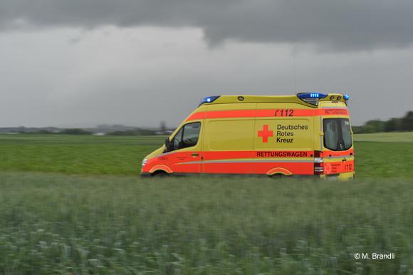 Neuer RTW der Bereitschaft Köngen, Mercedes Sprinter Delfis in gelb