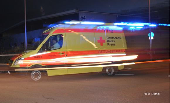 RTW Köngen bei Nacht
