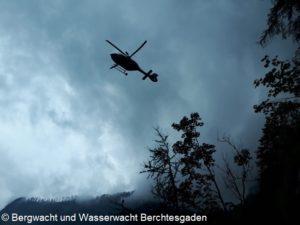 Hubschrauber über dem Königssee