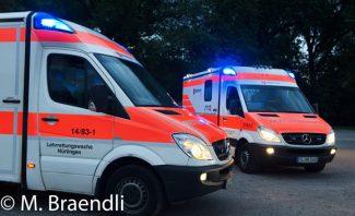 Symbolbild Zwei Rettungswagen