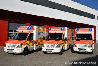 Rettungswagen der Berufsfeuerwehr Leipzig