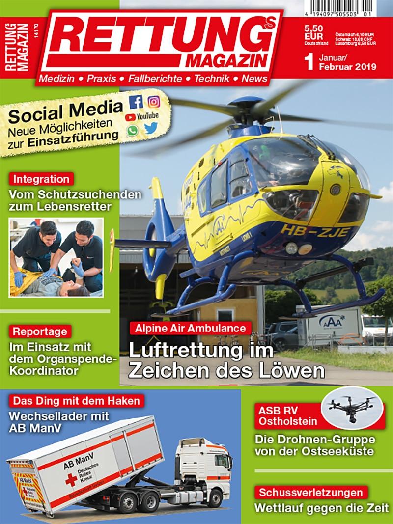 Produkt: Rettungs-Magazin 1/2019 Digital