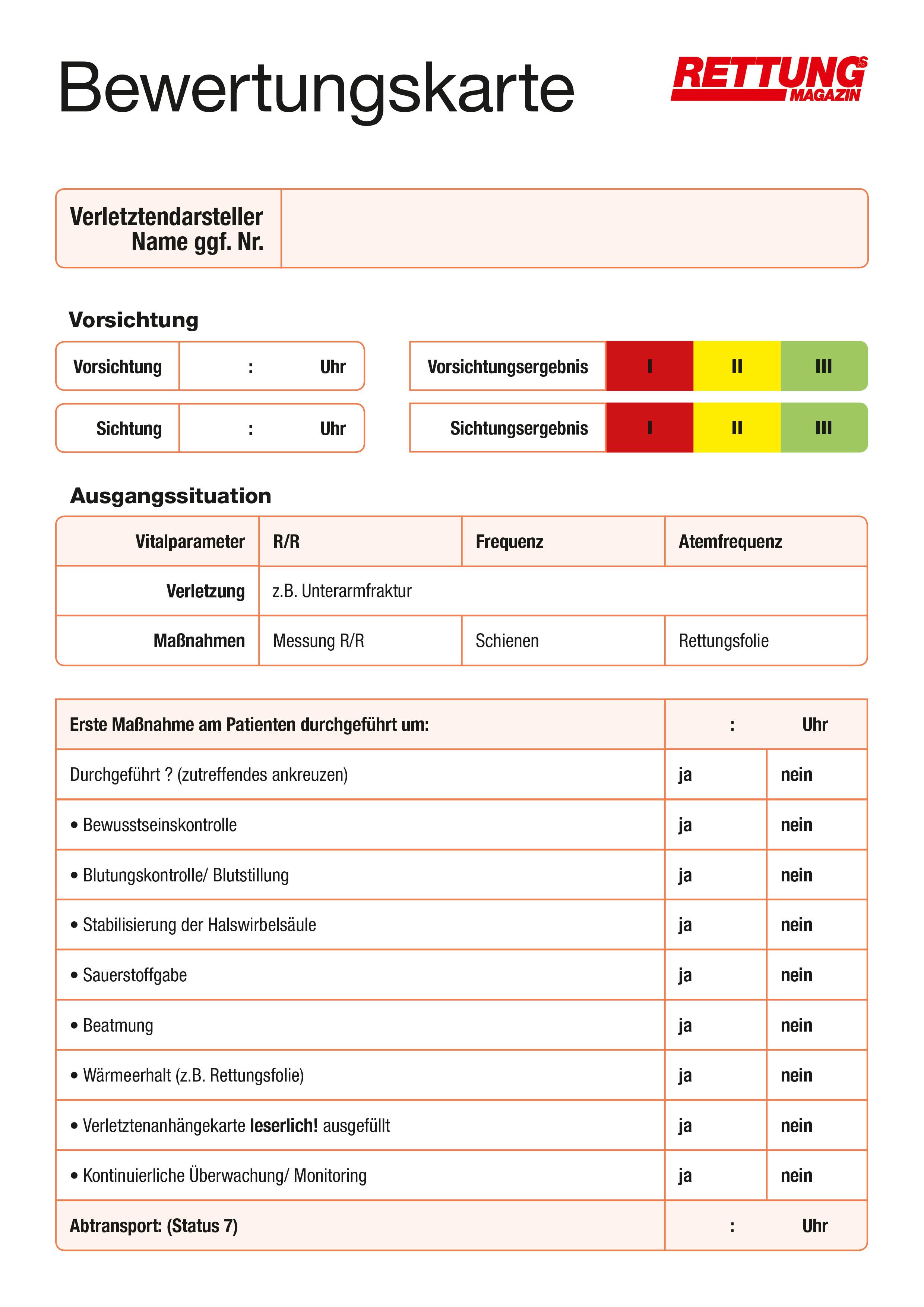 Produkt: Download Bewertungsbogen