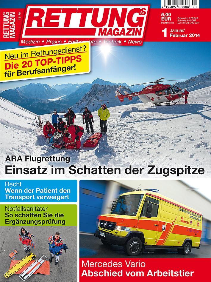 Produkt: Rettungs-Magazin Digital 1/2014