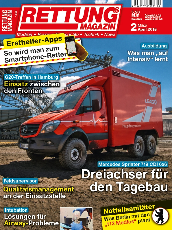 Produkt: Rettungs-Magazin Digital 2/2018