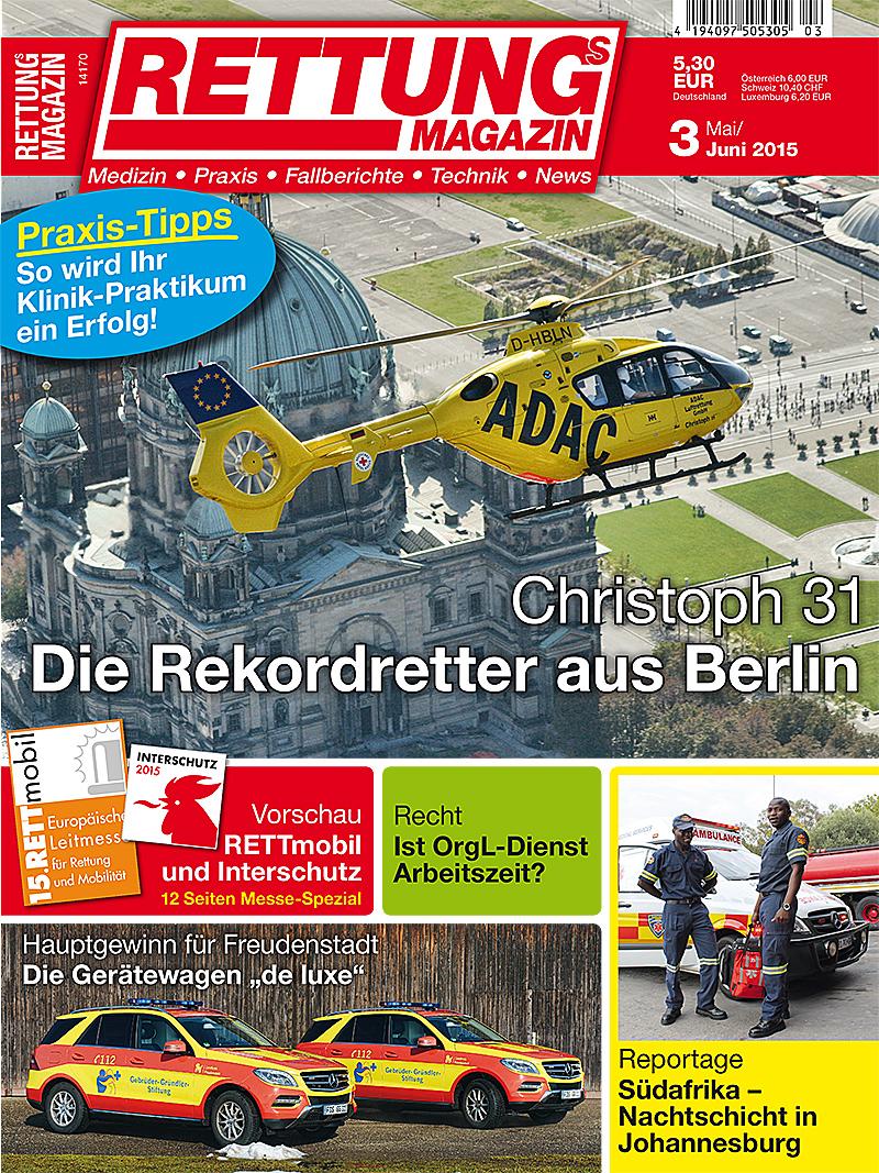 Produkt: Rettungs-Magazin Digital 3/2015