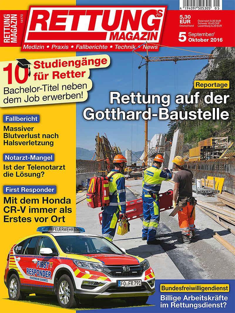 Produkt: Rettungs-Magazin Digital 5/2016